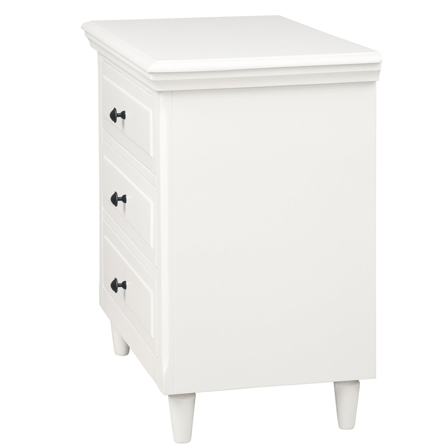 3-Drawer Nightstand End Table Storage Wood Cabinet Bedroom BH193010