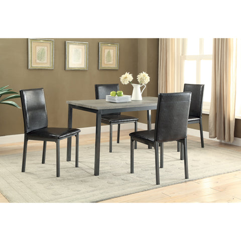 Coaster 100730 | Industrial Matte Black Bar Table + Bar Stools Set - 3 Count
