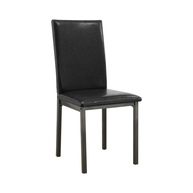 Coaster 100612 | Armless Upholstered Dining Side Chairs Black Set Of 2
