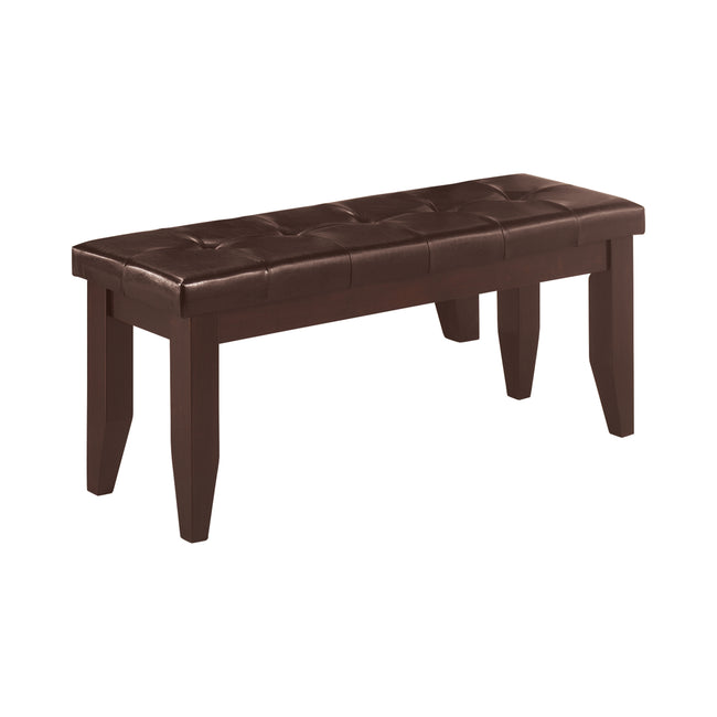 Coaster 102723 Vintage Tufted Upholstered Seat Dining Bench With Solid Wood Legs