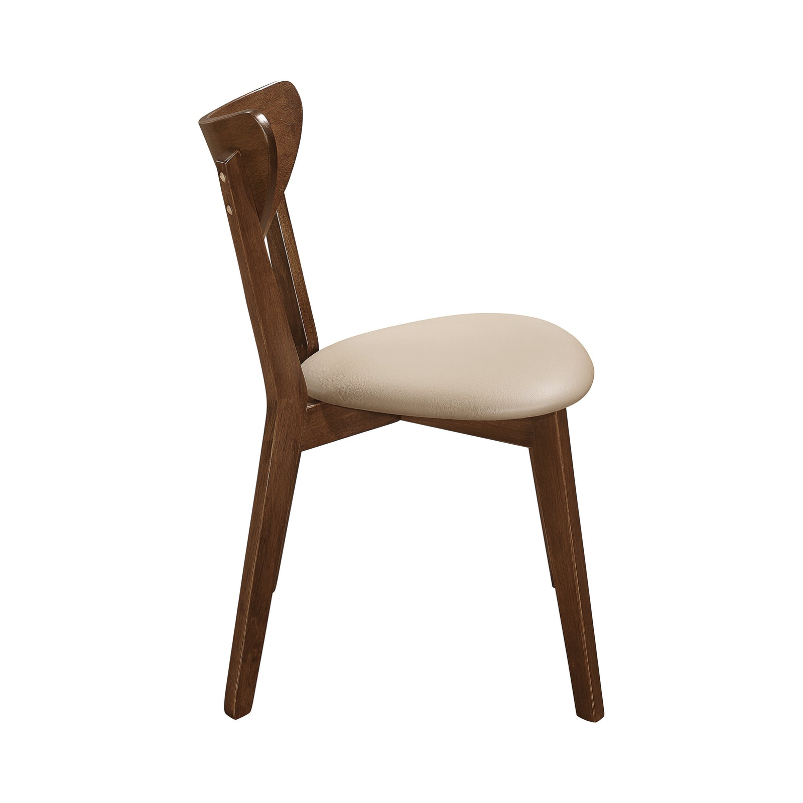 Coaster 103062 | Mid-Century Chestnut Dining Side Chairs With Curved Back Cushion - 2 Count