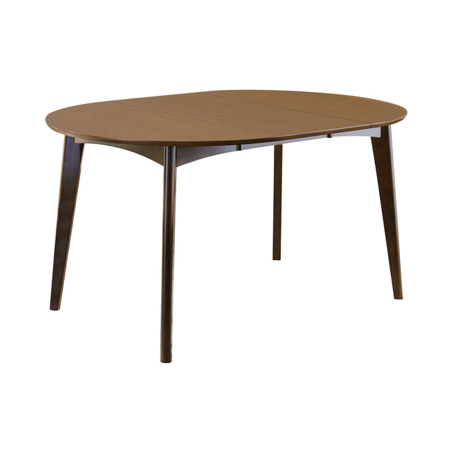 Dim Gray Coaster 105361 | Modern Oval Wood Dining Table Dark Walnut