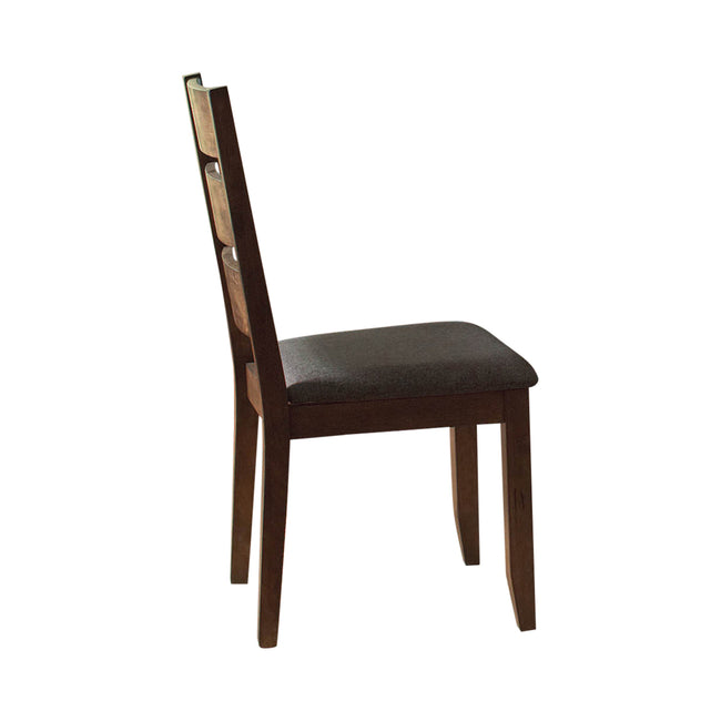 Black Coaster 106382 | Ladder Back Upholstered Side Chair Knotty Nutmeg Set Of 2