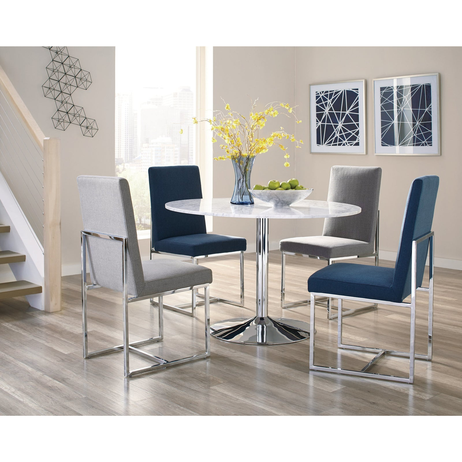 Coaster 107143 | Geometric Frame Upholstered Side Chairs Set Of 2