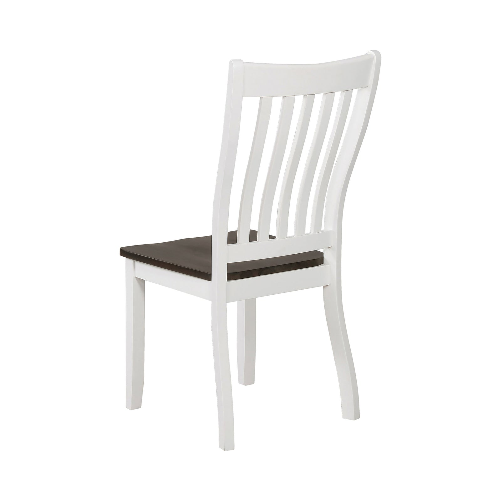Coaster 109542 Slat Back Dining Side Chairs Espresso And White - 2 Count