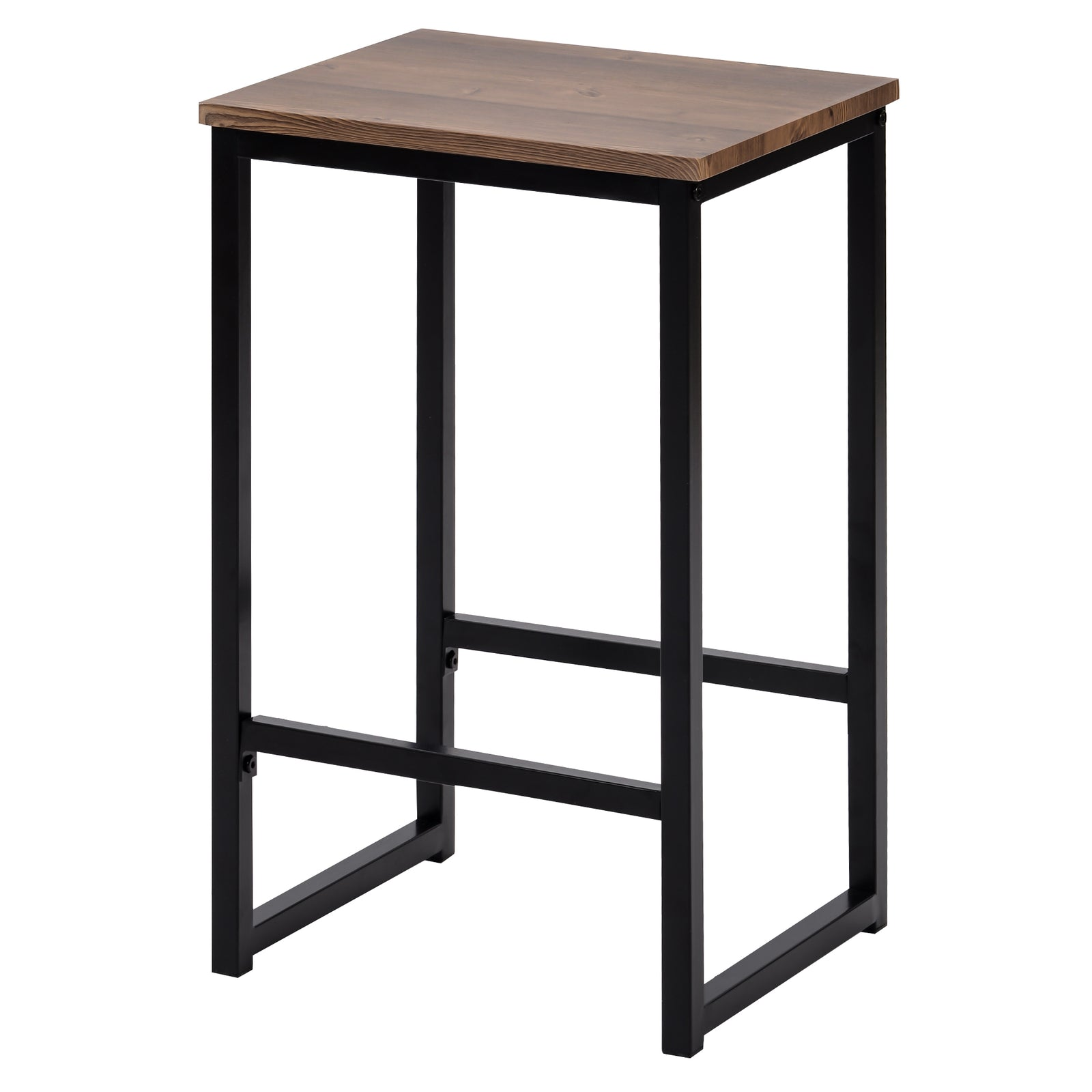 3 Counts - Modern Pub Set with Rectangular Table and Bar Stools - Black Stool