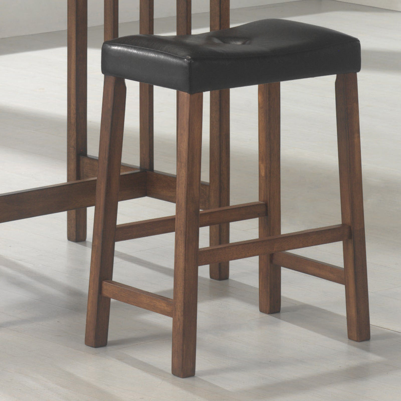 Coaster 130004 | Set Of 3 Table + Bar Stool Counter Height Set Brown