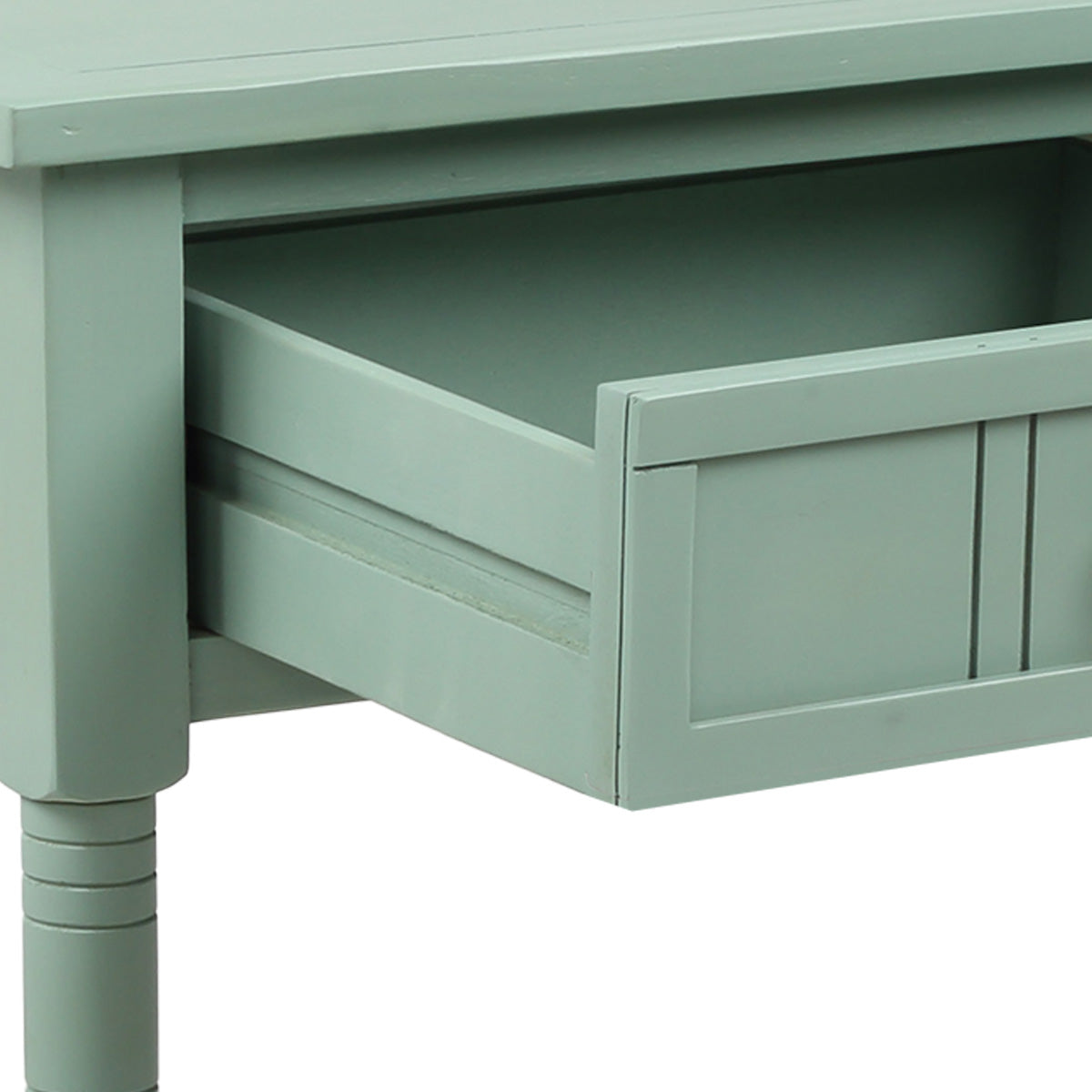 Console Table Traditional Design with Two Drawers and Bottom Shelf Acacia Mangium