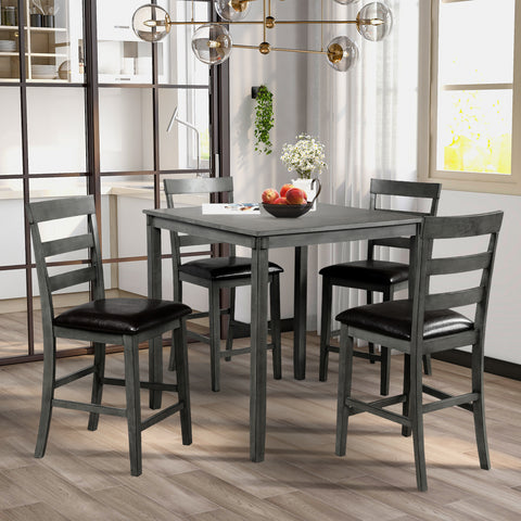 Coaster 100035 | Metal Rectangular Dining Set - 5 Count