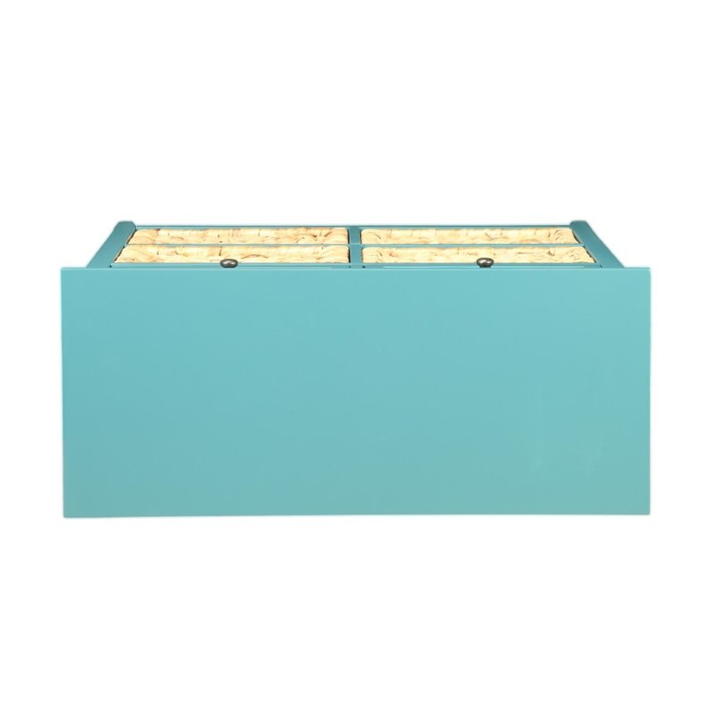Medium Aquamarine Wooden Console Table With 6 Drawers in Teal BH97418