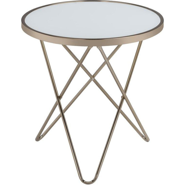 Lavender Round End Table Side Table Bedroom Nightstand Metal Base BH81832 BH81827