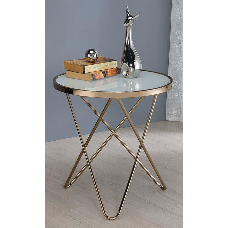 Dim Gray Round End Table Side Table Bedroom Nightstand Metal Base BH81832 BH81827