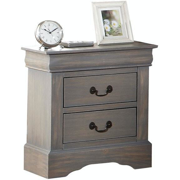 Dim Gray End Table Side Table Bedroom Nightstand With Two Drawers BH19503 BH19523 BH24503 BH25503
