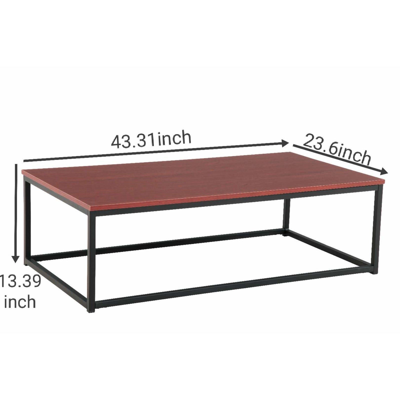 Coffee Table Dining Table - Red Brown - Size