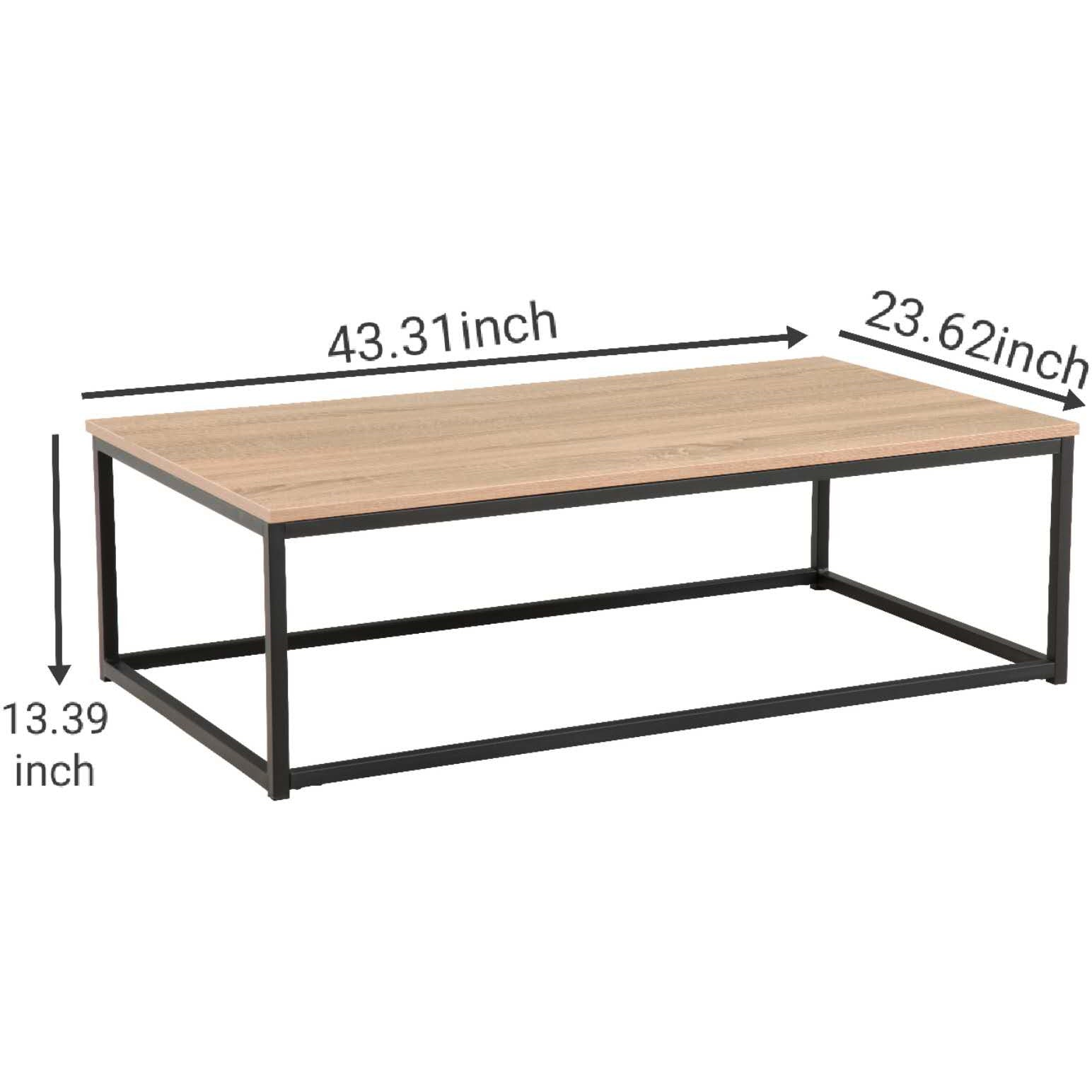 Coffee Table Dining Table - Oak - Size