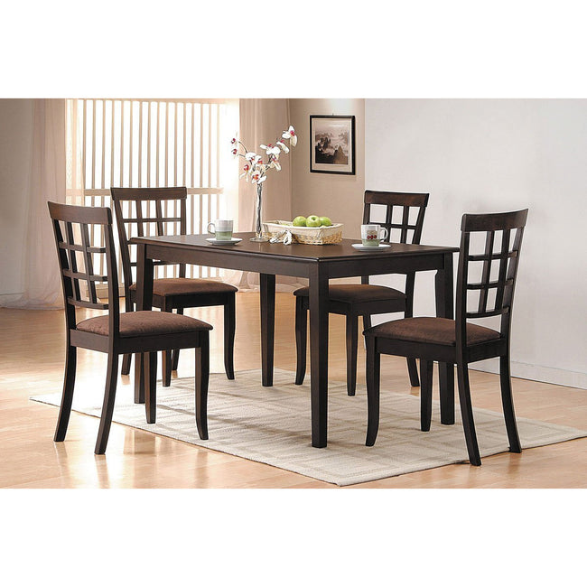 Cardiff Wooden Rectangular Dining Table in Espresso BH06850