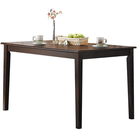 Coaster 190911 | Modern Rectangular Top Metal Legs Dining Table Natural Acacia