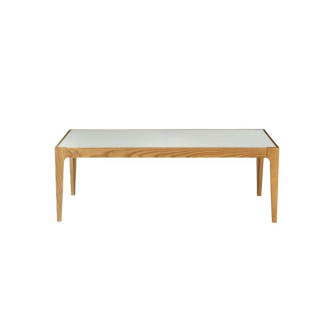 Occasional Coffee Table in Natural & Frosted Glass BH84665