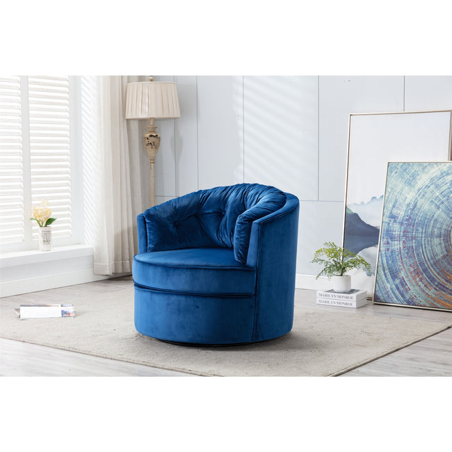 Modern Swivel Accent Chair Barrel Chair Leisure Chair for Living Room BH3951828
