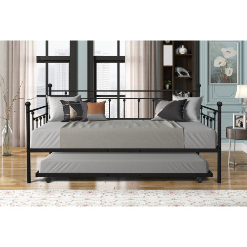 Metal Frame Daybed With Trundle Bedroom BH42721072 BH42721073