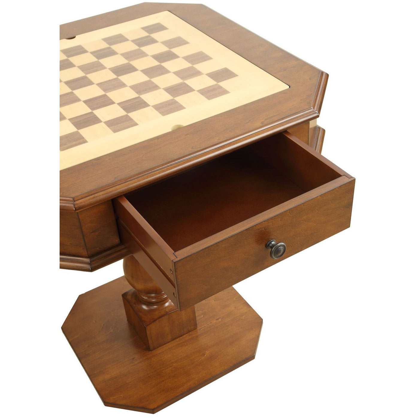Black Game Table Reversible Game Tray 3-in-1 Chess, Checker, & Backgammon BH82846 BH82844
