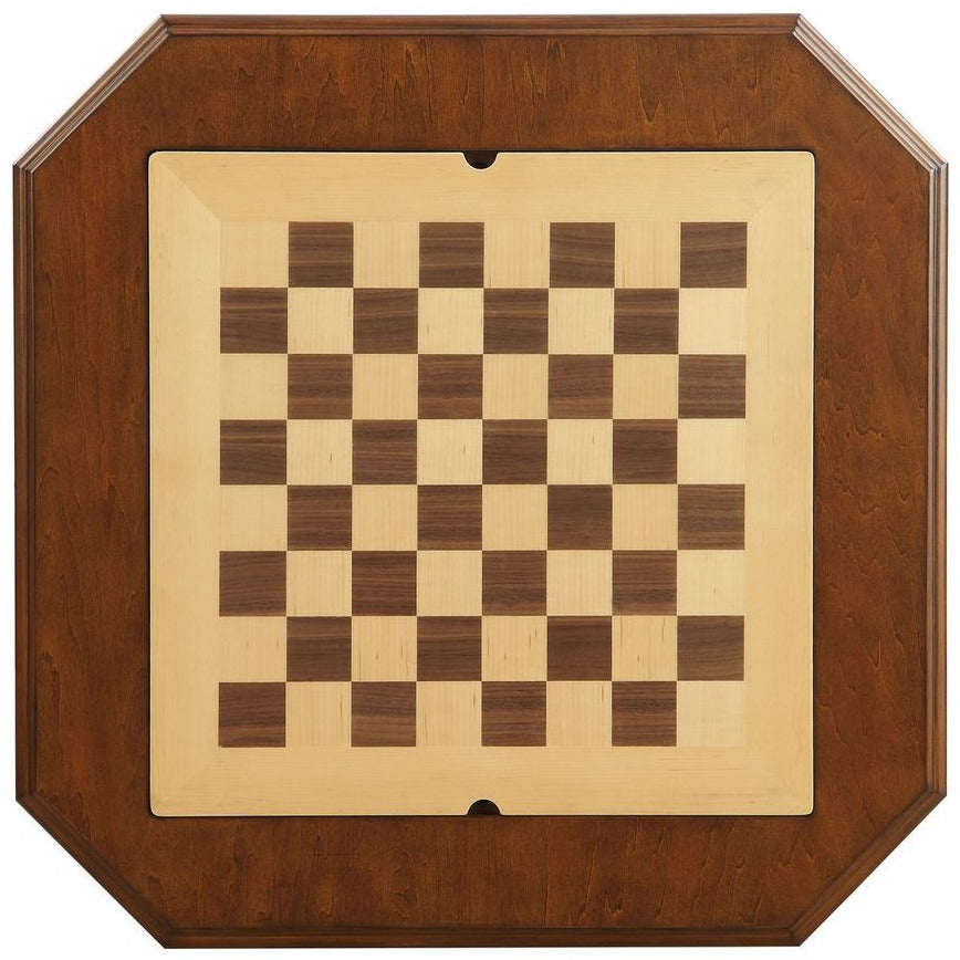Tan Game Table Reversible Game Tray 3-in-1 Chess, Checker, & Backgammon BH82846 BH82844