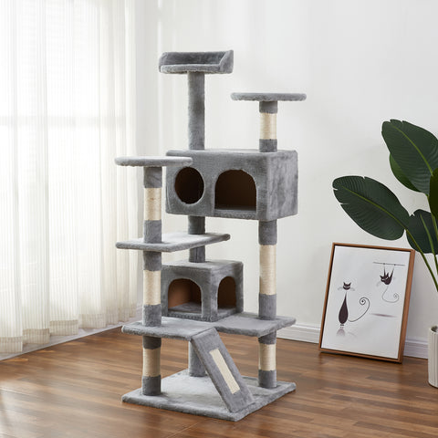 "72"" Cat Tree Tower Condo Furniture Kitten Bed Play House Scratching Tower"