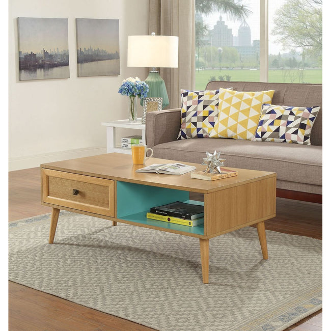 Jayce Coffee Table With Drawer in Natural BH80335