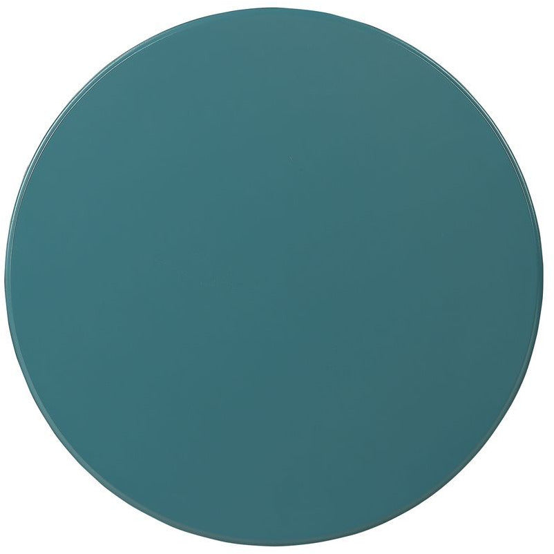 "17"" D Round Pedestal Side Table Bedroom Teal - Top"