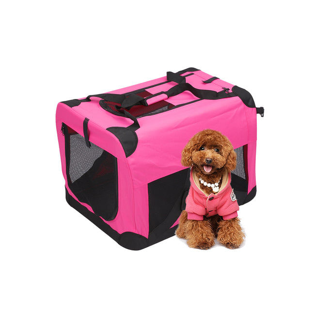 Hot Pink Portable Crates Cage Metal Frame Carrier Heavy Duty