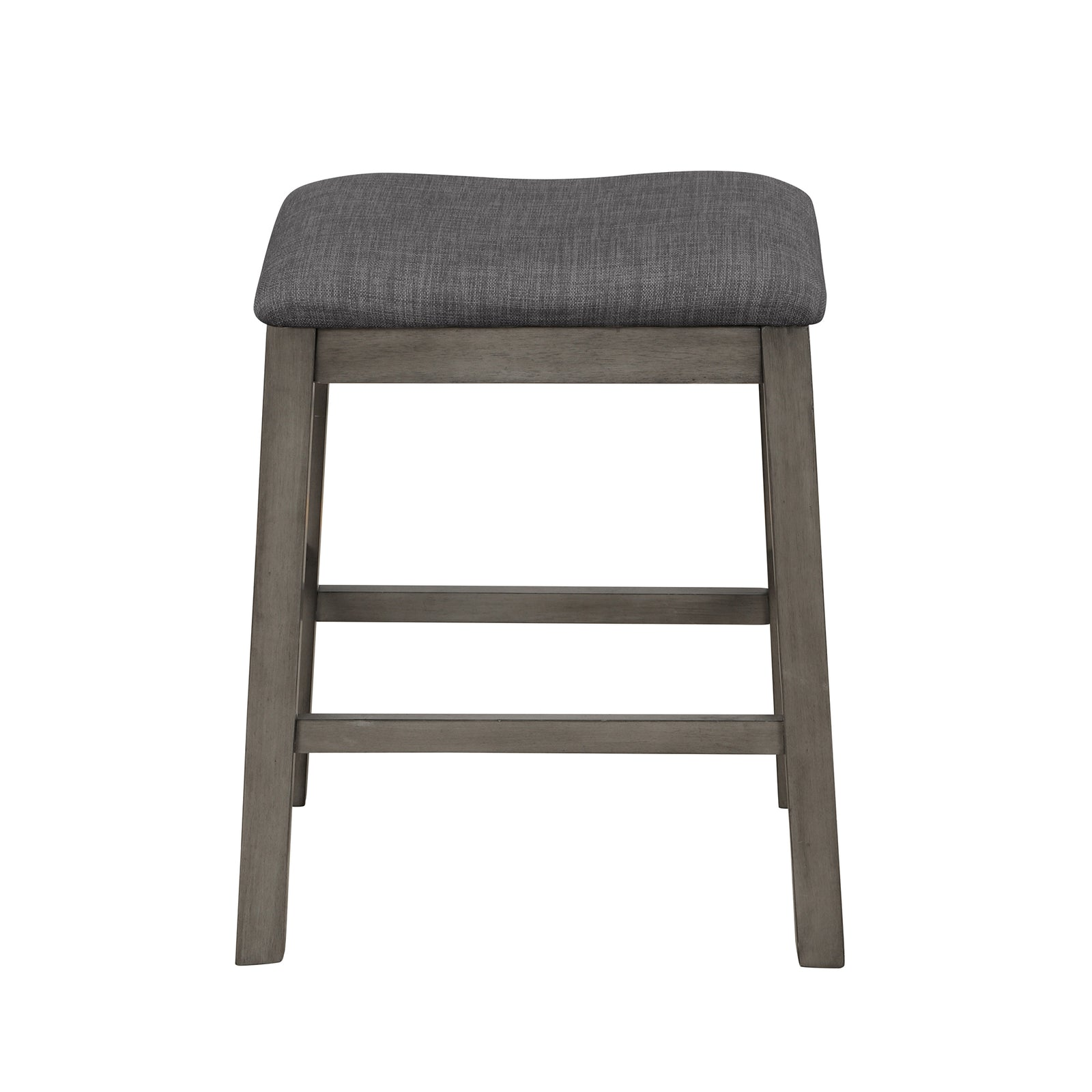 3 Counts - Square Dining Table with Padded Stools, Table Set with Storage Shelf Dark Gray - Stool