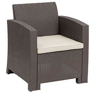 Conversation Sets Outdoor Patio Furniture 3 Pieces Rattan Wicker Chairs Seat with Table
