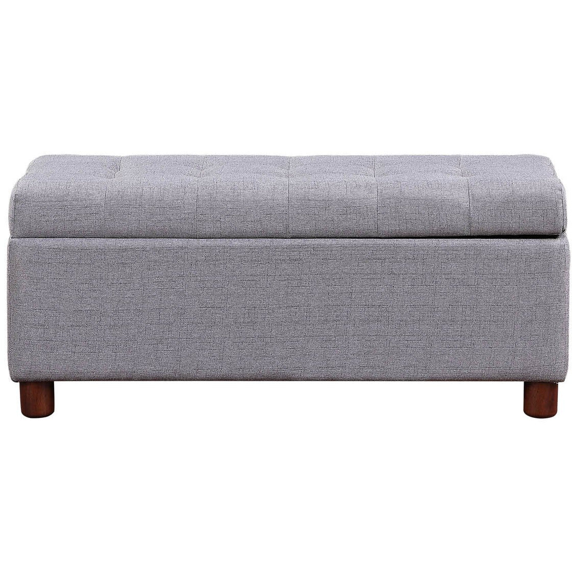 39'' Storage Bench Tufted Linen Fabric Ottoman Storage Bench BH036590