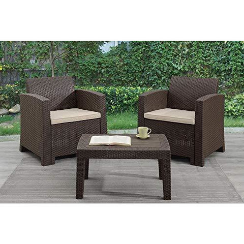 Furniture Dining Set Outdoor Patio Picnic Arm Chairs Table and Benches