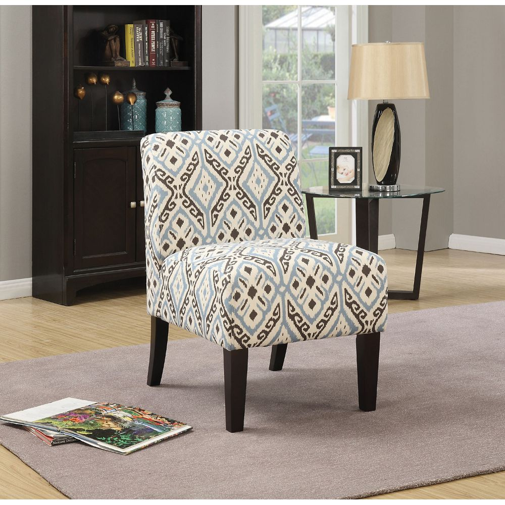 Gray Pattern Fabric Upholstered Armless Accent Chair Club Chair BH59438 BH59504