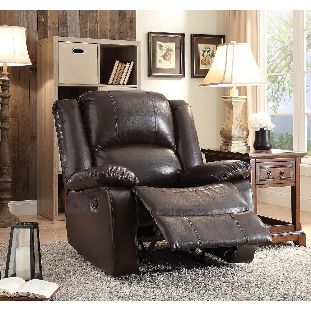 Dark Slate Gray Vita Recliner (Motion) in Espresso PU BH59470
