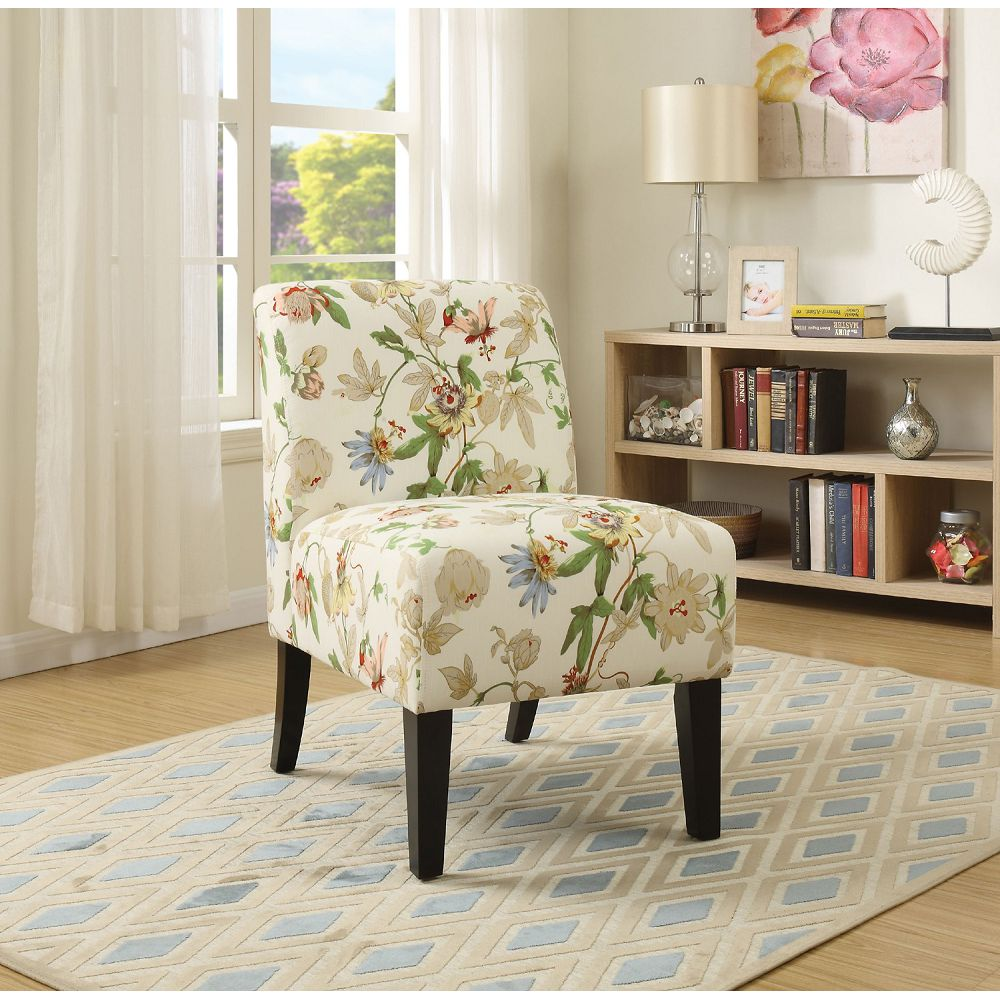 Rosy Brown Pattern Fabric Upholstered Armless Accent Chair Club Chair BH59438 BH59504