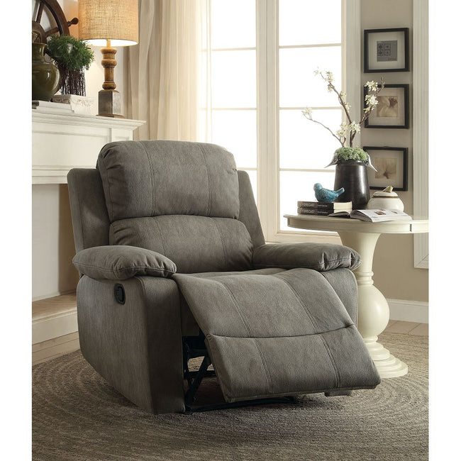 Bina Recliner (Motion) in Gray Polished Microfiber BH59528