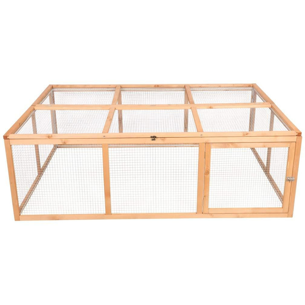 Tan Wooden Outdoor Chicken Coop