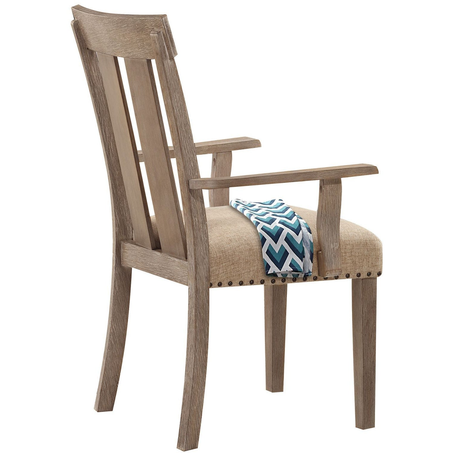 Dim Gray Set Of 2 - Nathaniel Arm Chair Fabric & Maple BH62333