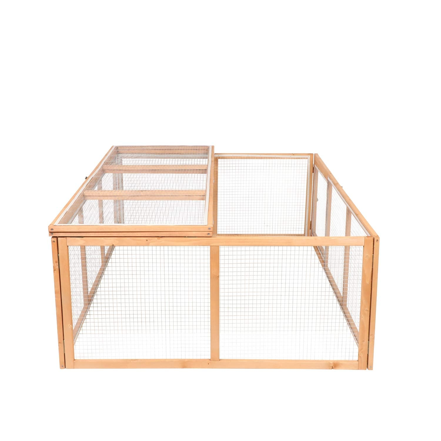 Light Salmon Wooden Outdoor Chicken Coop