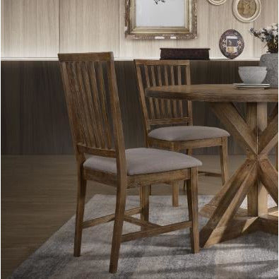 Coaster 103803 | Woven Khaki Dining Side Chairs With Cushioned Seat Set Of 2