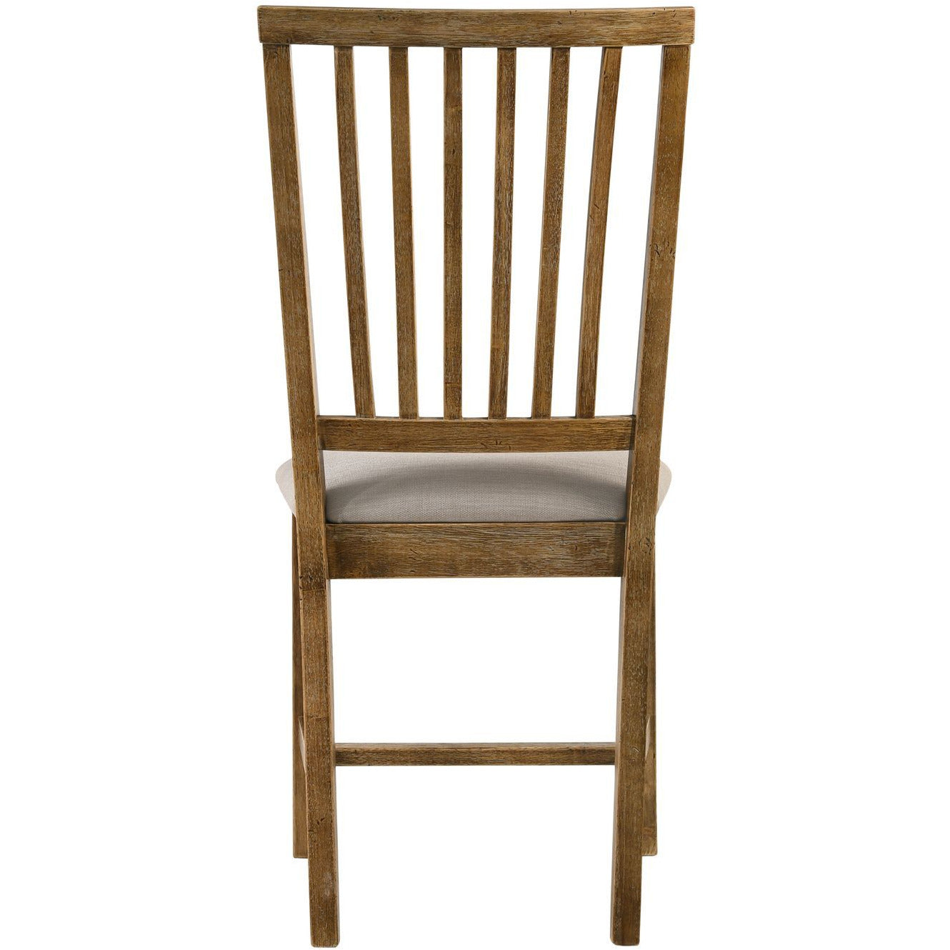 Saddle Brown Set Of 2 Wallace II Side Chair Tan Linen & Weathered Oak BH72312