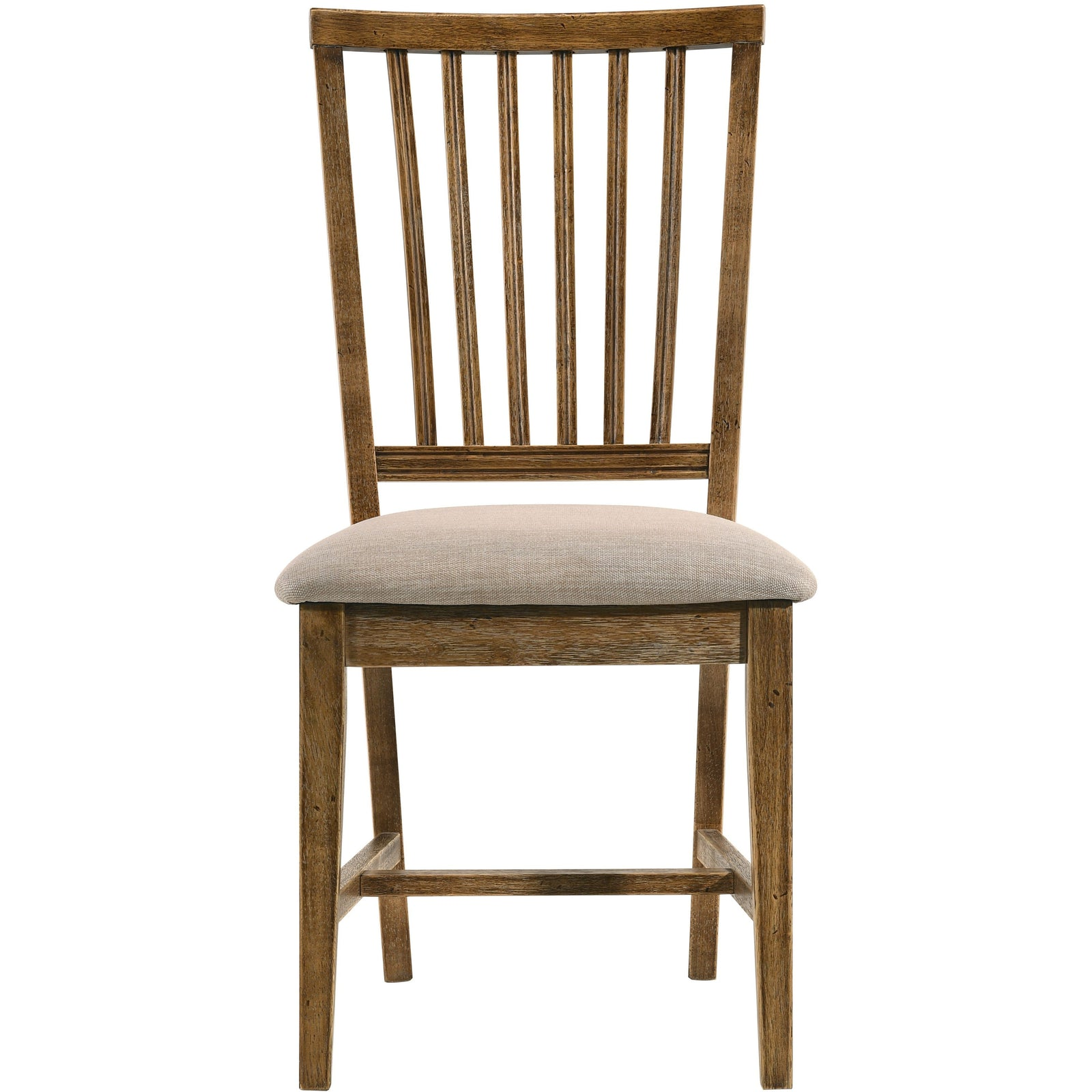Dark Olive Green Set Of 2 Wallace II Side Chair Tan Linen & Weathered Oak BH72312