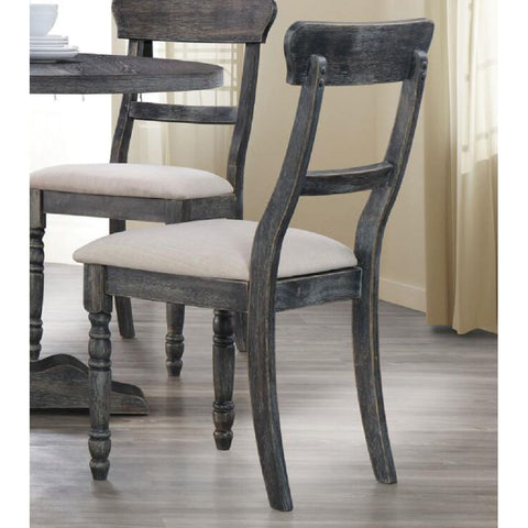 Upholstered Armless Accent Chair Dining Chairs with Solid Wood Legs Set Of 2