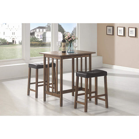 Coaster 150097 | Set Of 5 Table + Stool Counter Height Set Black And Brown
