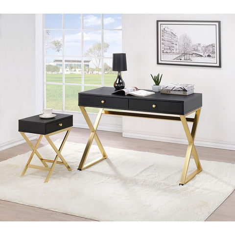 L-Shaped Writing Desk With Metal Base BH92810 BH92812 BH92814