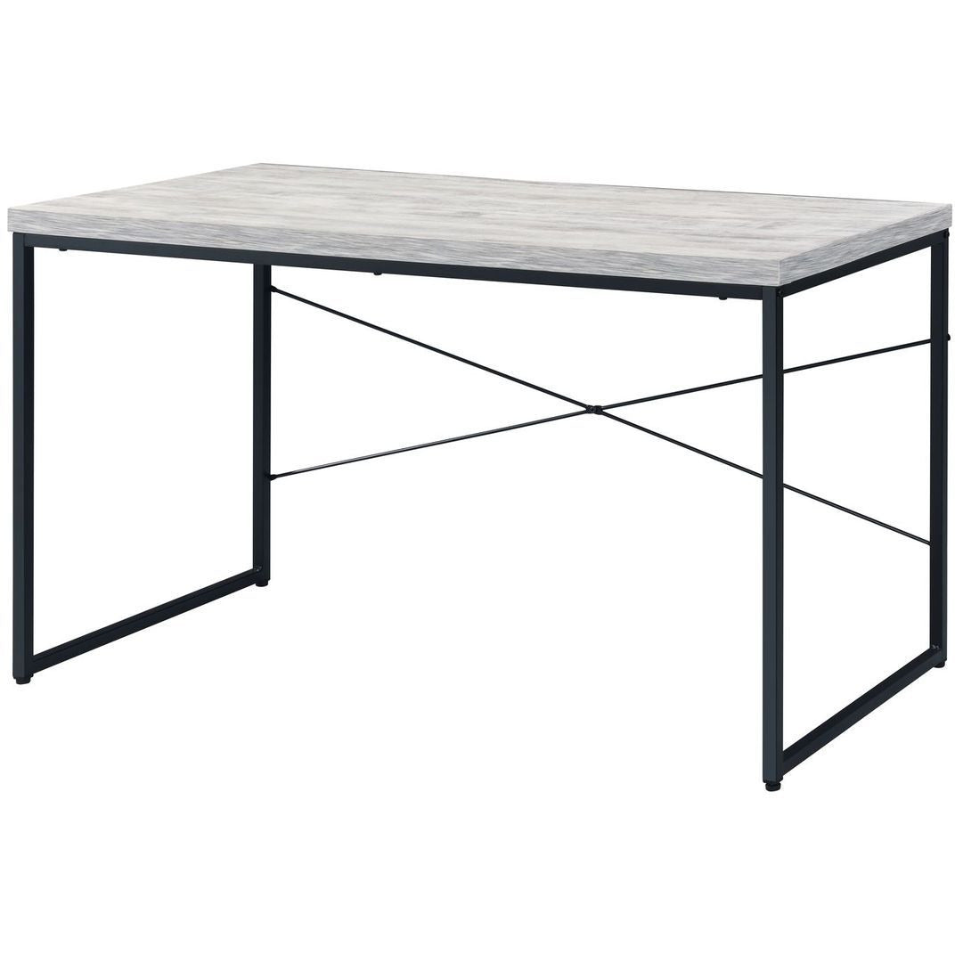 Industrial Faux Concrete Top Desk w/Metal Open Frame BH92915 BH92905