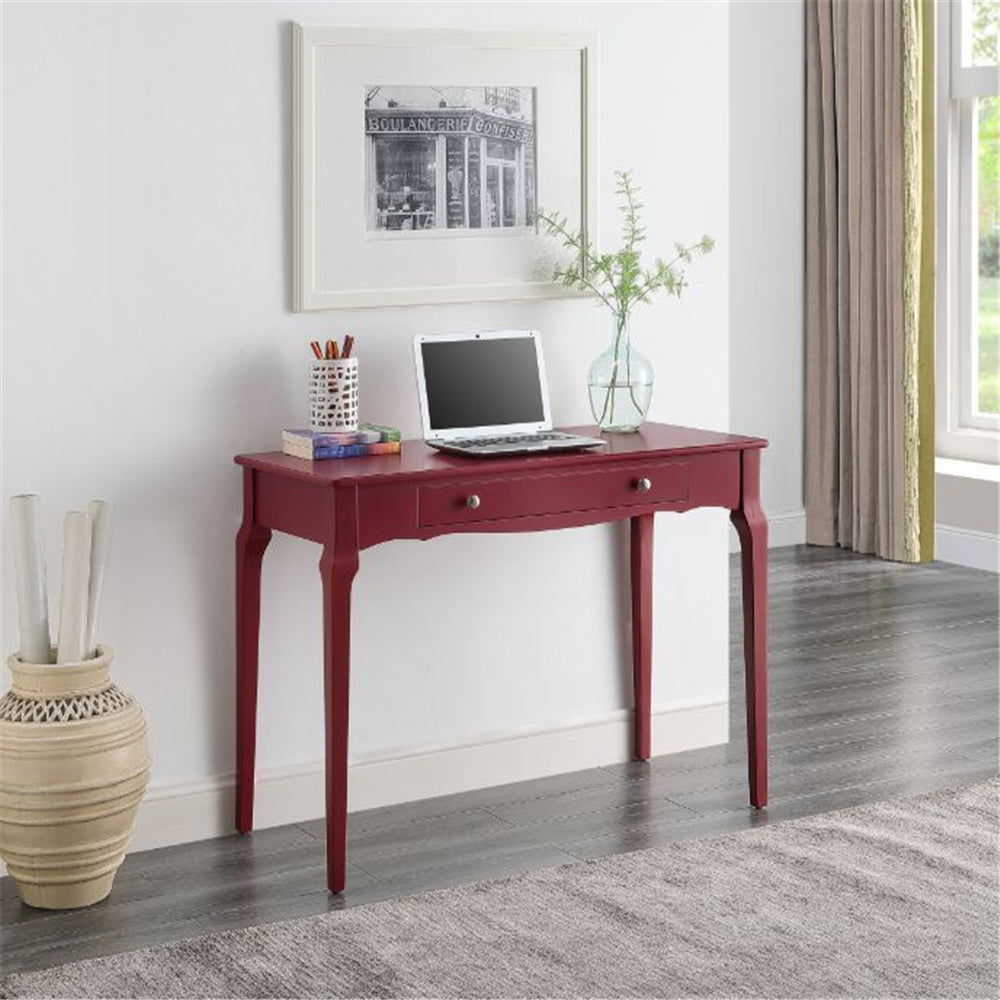 Saddle Brown Rectangular Wooden Writing Desk With 1 Storage Drawer BH93019 BH93020 BH93023 BH93024