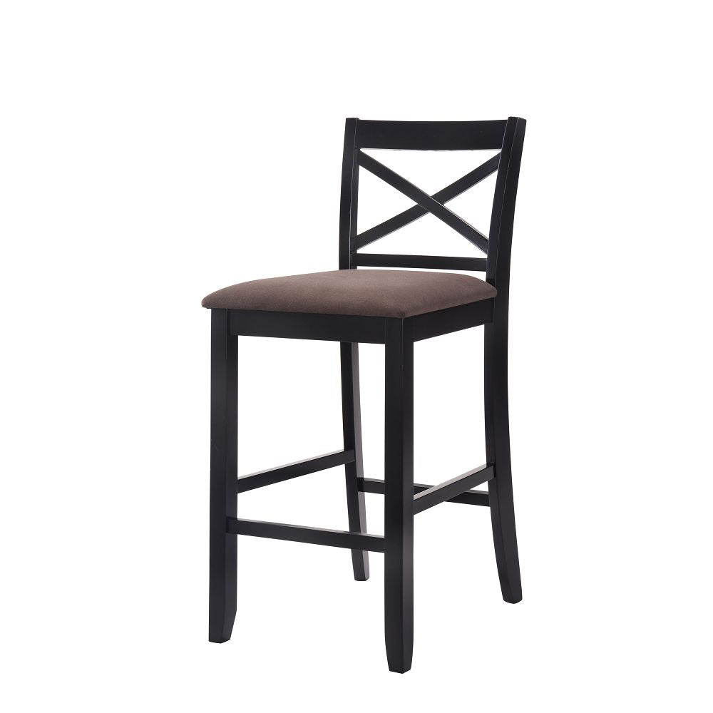 Armless Bar Chair in Fabric & Black